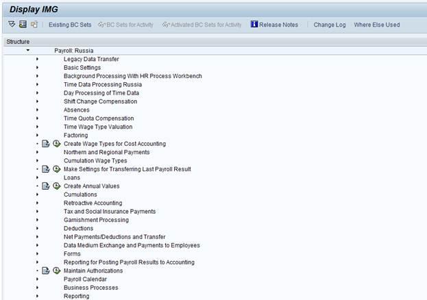 IMG_Payroll_RUssia_SAP HCM customizing